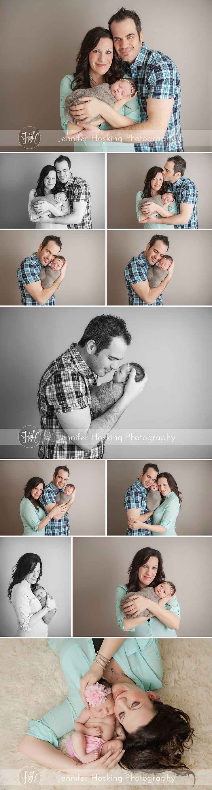 Newborn Photography Metro Detroit Newborn girl with her parents