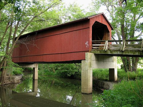 Illinois History: Sugar Creek Bridge Springfield, Illinois