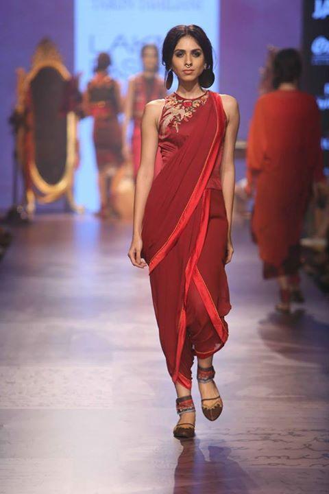Trun Tahiliani's dhoti saree