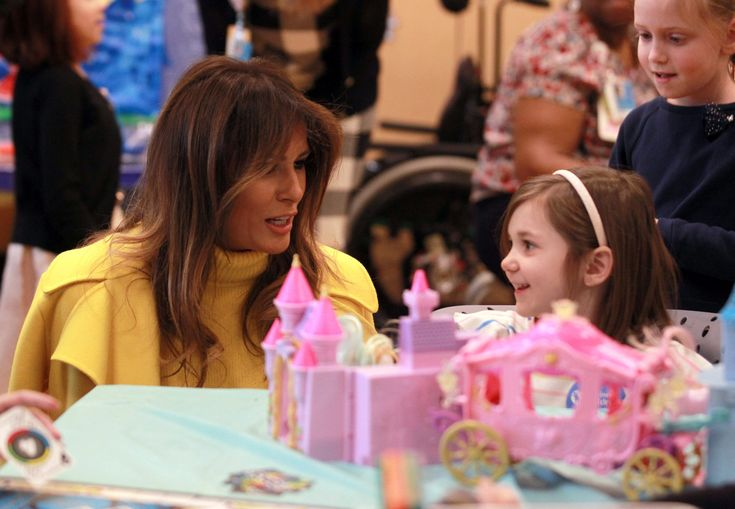 First Lady of the United StatesMelaniaTrump meets children from Cincinnati Children's Hospital during her visit to the hospital in Cincinnati, Ohio, February 5, 2018. (REUTERS/ John Sommers II) via @AOL_Lifestyle Read more: https://www.aol.com/article/news/2018/02/05/melania-trump-visits-children-gets-briefed-on-opioid-crisis-at-ohio-hospital/23353443/?a_dgi=aolshare_pinterest#fullscreen
