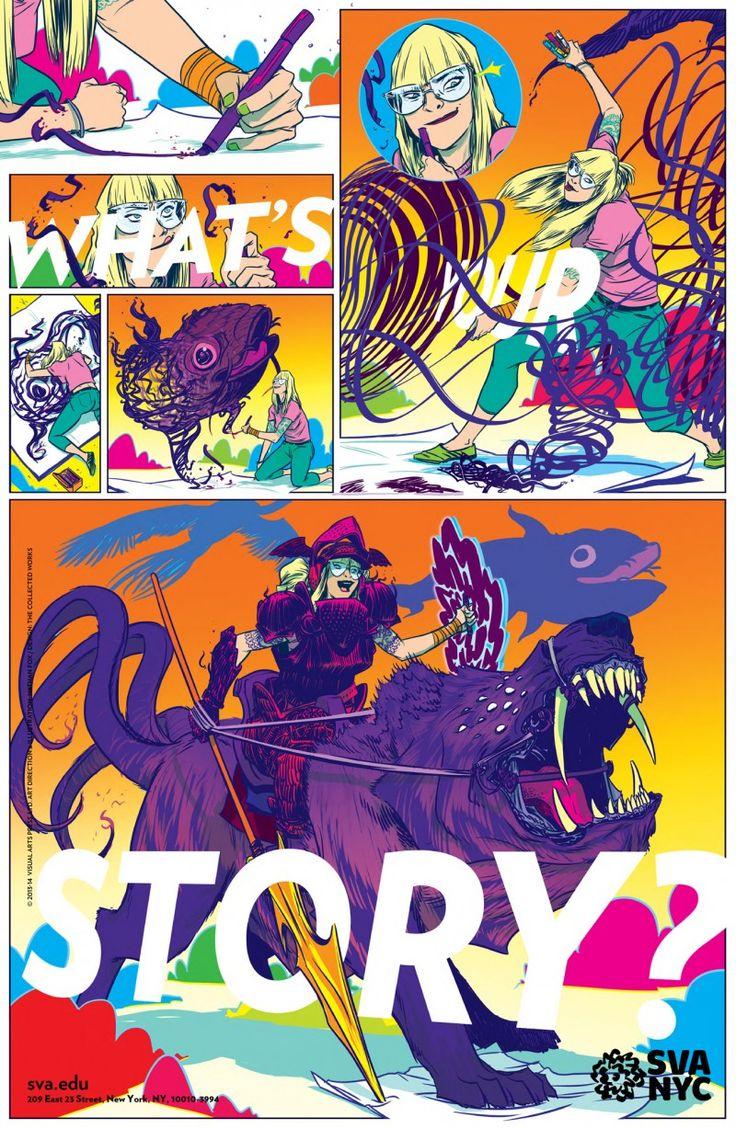 Nathan Fox stirs up creativity for SVA's Subway Poster series