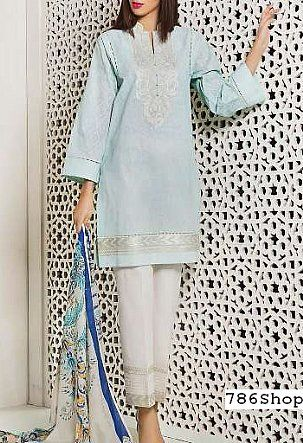 Sky Blue Lawn Suit | Buy Sapphire Pakistani Dresses and Clothing online in USA, UK