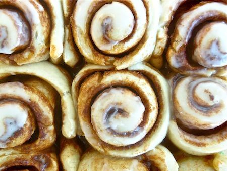 Homemade cinnamon rolls are one of those rare treats that make you feel like all is right with the world--the smell of warm spices in the air, the yeasty, chewy dough wrapped around spirals of cinnamon-sugar love, all cloaked in a sweet, melty gla...