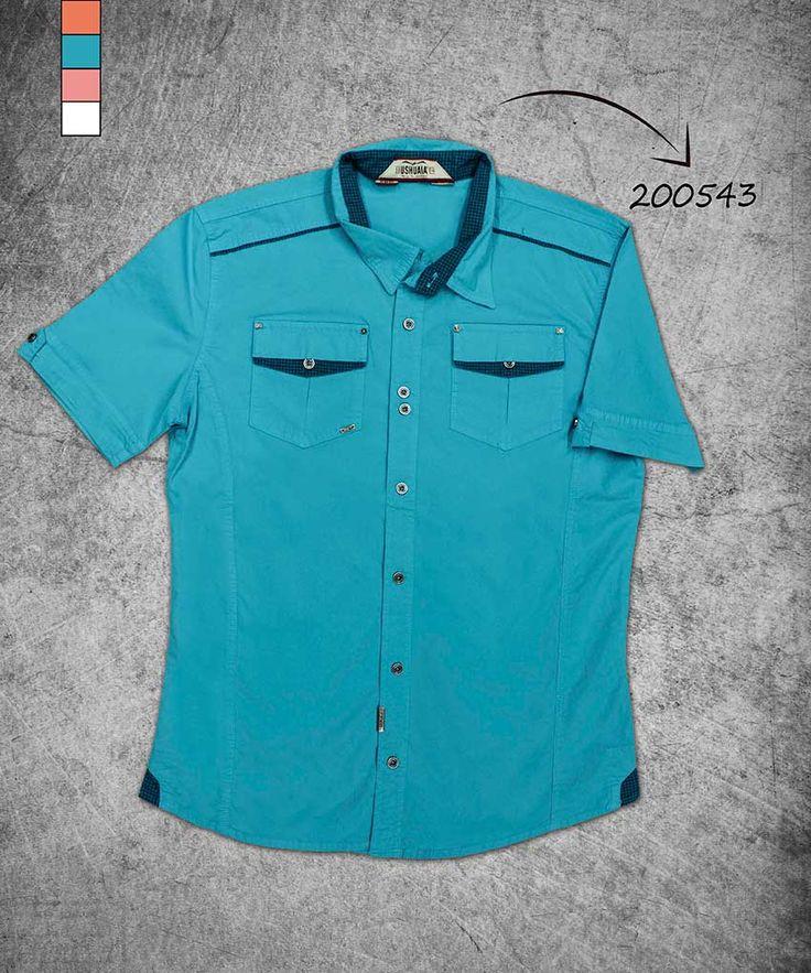 camisa-hombre-manga-corta-color azul-men-shirt-short-sleve-blue-color-200543
