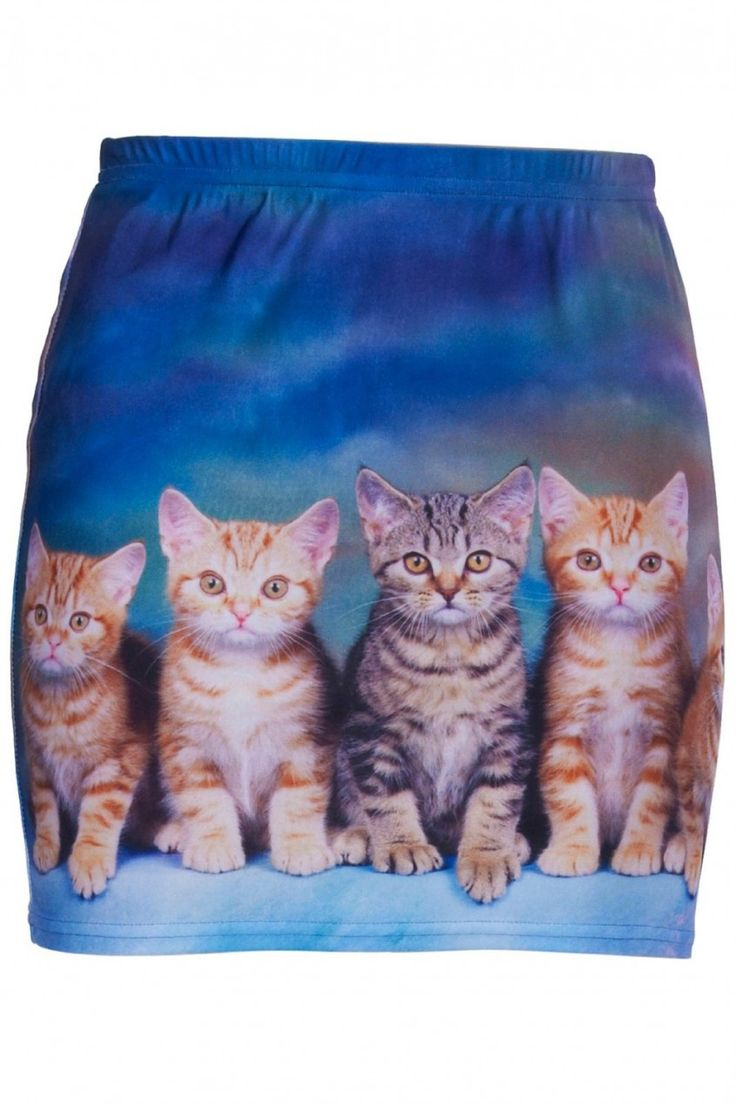 Ok.  To wear this cat print skirt you REALLY have to tap into your inner cat lady!  As strange as it is, it's actually a really nice cut and shape and would probably look great!  What do you think?