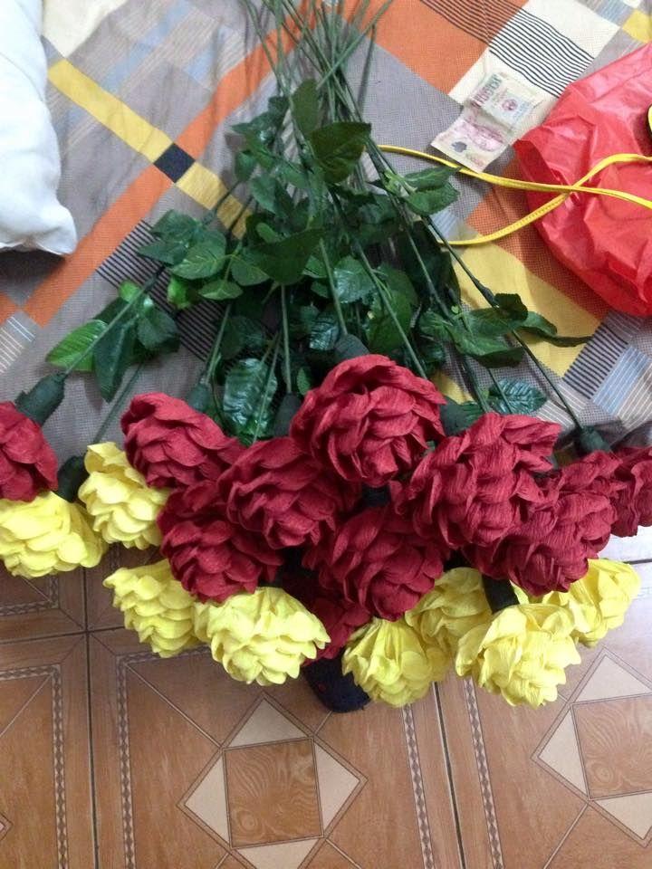 253 best Bouquet Chocolate Flowers images on Pinterest | Paper ...