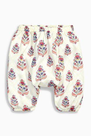 Купить Светло-бежевые мешковатые брюки с рисунком (0 мес. - 2 лет) - 222uah