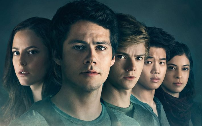 Download wallpapers Maze Runner, The Death Cure, 2018, new movie, poster, Thomas Sangster, Kaya Scodelario, Dylan OBrien, Lee Ki Hong, Will Poulter