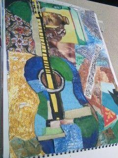 Collage- Still life guitar