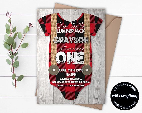Lumberjack first birthday party theme #ad