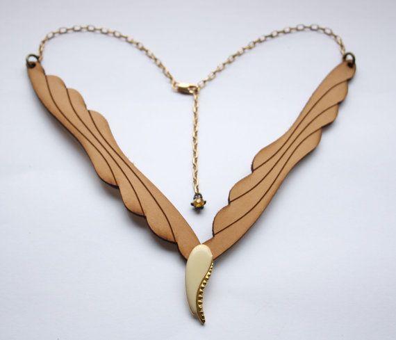 Art Deco angel neckpiece by Deccoangel on Etsy