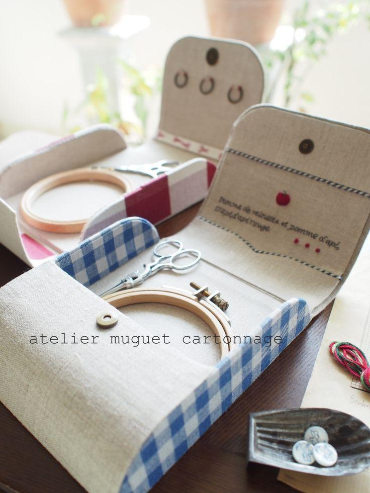 Atelier Muguet - Cartonnage- Beautiful sewing kits