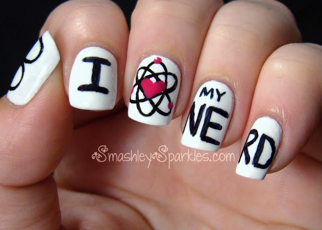 Smashley Sparkles: The Digit-al Dozen Does Geek Week: I Heart My Nerd - 129 Best Nail Art For Nerds Images On Pinterest Nerd, Nailart