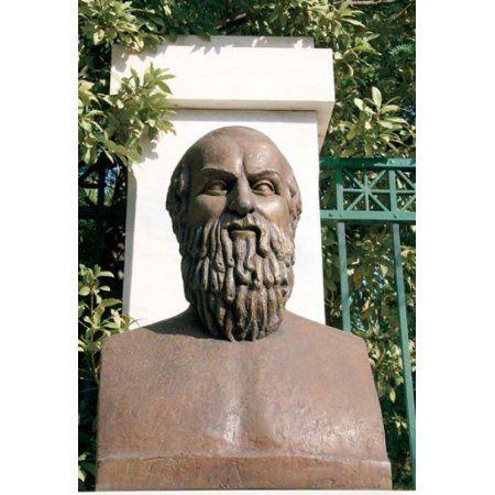 Aeschylus Classical Athens Bust Statue Athens Greece Canvas Art - Prisma Archivo DanitaDelimont (25 x 37)