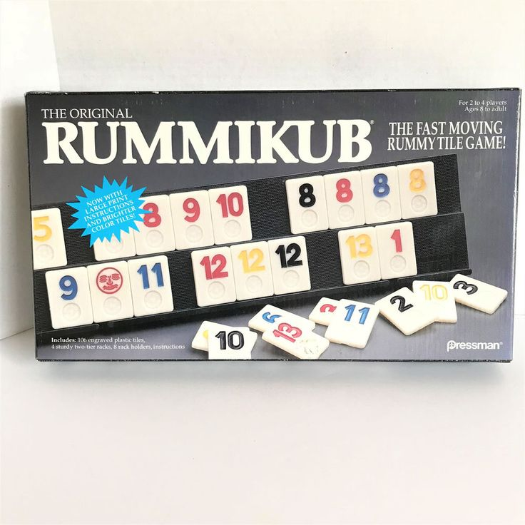 The Original Rummikub Fast Moving Rummy Tile Game 1990 Pressman Complete Game #Pressman