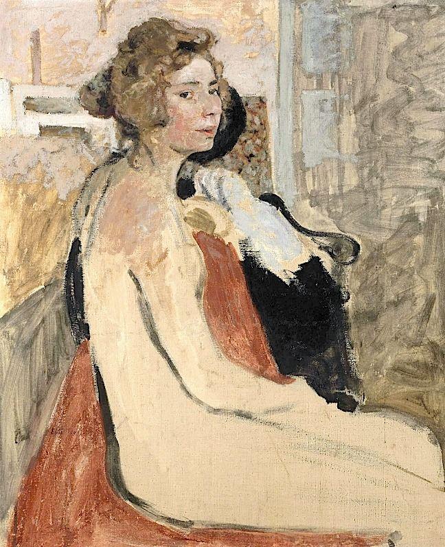 La Modèle // by EDOUARD VUILLARD (1868-1940)