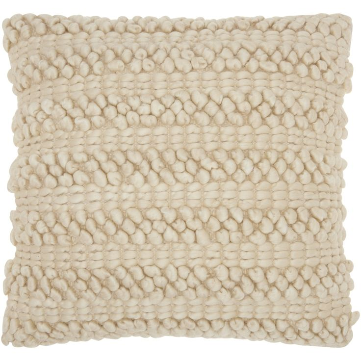 Mina Victory Lifestyle Woven Stripes Beige Throw Pillow by Nourison (20 x 20-inch)