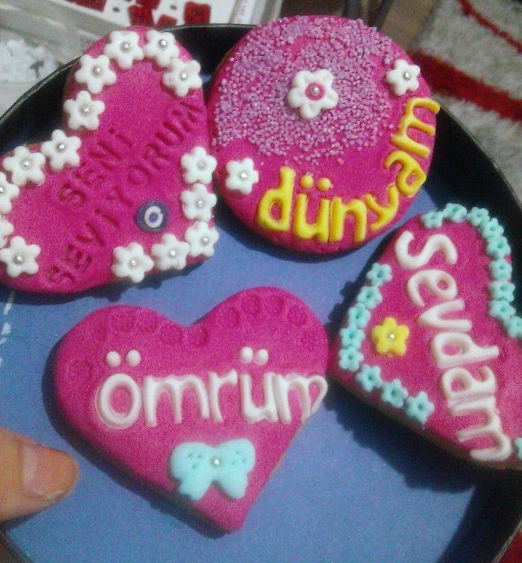 sevgiliye özel doğum günü kurabiyeleri