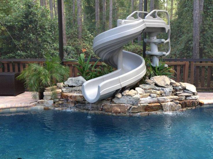 Best 25 Above Ground Pool Slide Ideas On Pinterest Diy Pool Toys Deck With Above Ground Pool