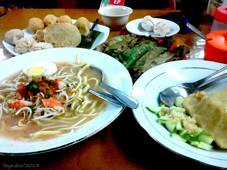 Mie Celor and every kind of Pempek, at Pempek Candy, Palembang, South Sumatera