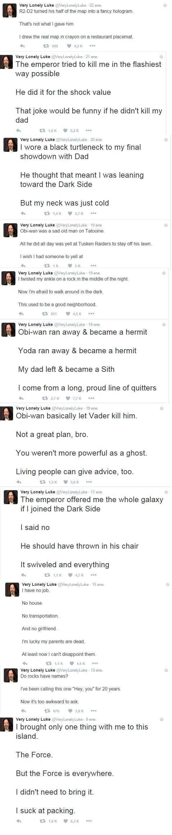 very lonely Luke
