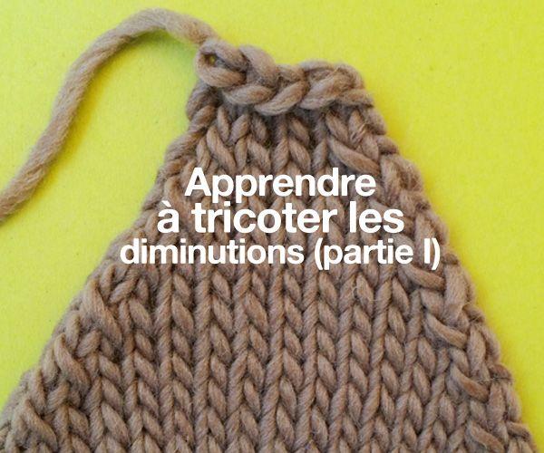 Apprendre à tricoter les diminutions (partie I)