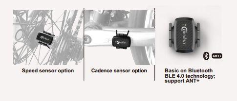 Meilan C1 sensor inalámbrico de velocidad&cadencia para bicicleta  1. La tecnología BLE4.0 se puede utilizar en el cronómetro y la aplicación que adoptan el protocolo estándar de Bluetooth; 2. Las marcas internacionales de las aplicaciones que actualmente se permite la conexión se muestran a continuación:Wahoo, Komoot, Falk, Teasi, Cateye, Topeak, Lezyne, Meilan 3. La salida del dispositivo es de un solo canal, solo puede elegir una señal de velocidad o cadencia simultáneamente;