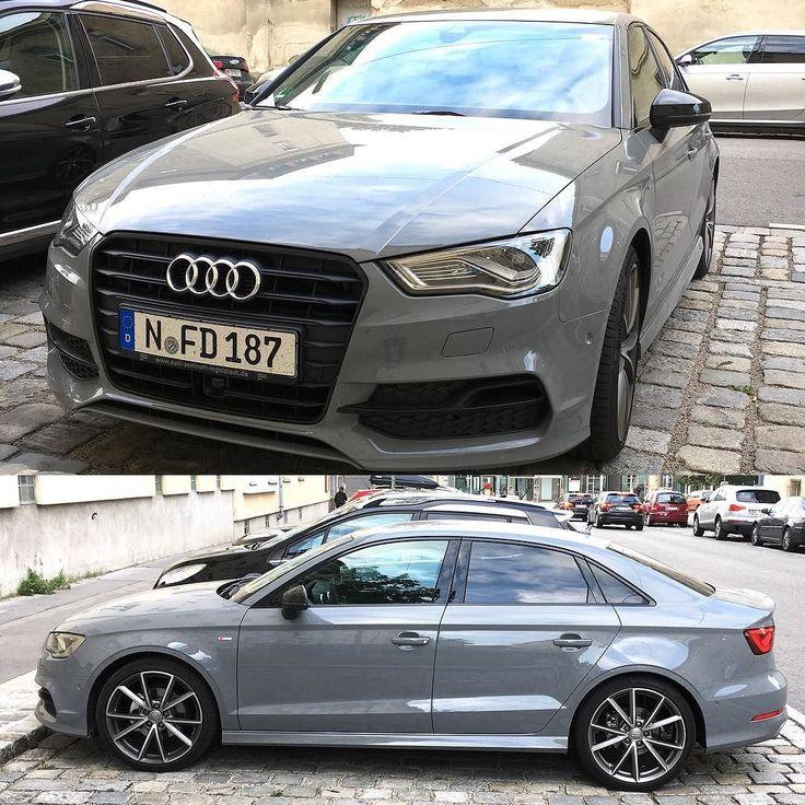 Audi A3 Sedan with Black optics and mirrors