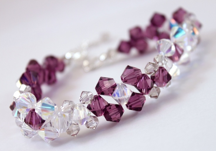 Handmade with CRYSTALLIZED™ - Swarovski Elements and sterling silver findings.     FREE shipping within Europe!  $49