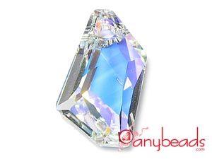 Crystal AB - Austrian Swarovski Crystal Elements 6670 Pendant 18mm #SwarovskiCrystal #6670 #CrystalAB #pendant #anybeads