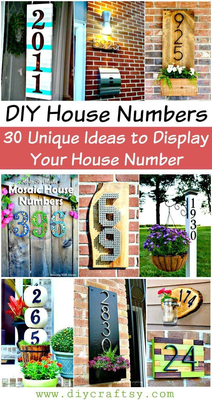 Diy House Numbers 30 Unique Ideas To Display Your House Number House Numbers Diy House Numbers Diy House Number Plaques