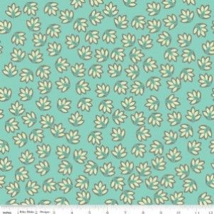 Cotton fabric Riley Blake - Verona Leaves Teal