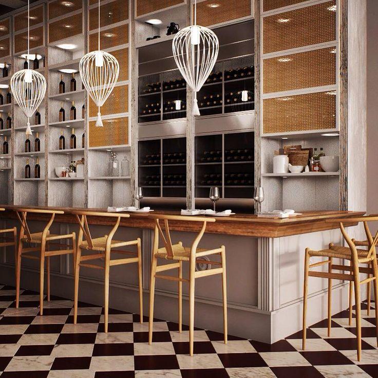 """""""KUZINA"""" restaurant / interior design / furniture design / decorative structures / lighting"""