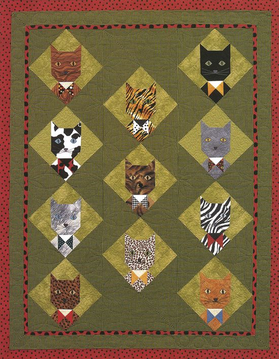 126 best Quilting: Cats images on Pinterest | Embroidery, DIY and ... : quilting cats - Adamdwight.com