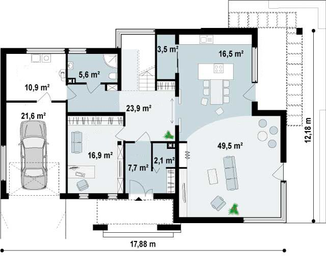 Ficha y planos de casa ayosa estilo contempor neo - Proyectos casas unifamiliares ...
