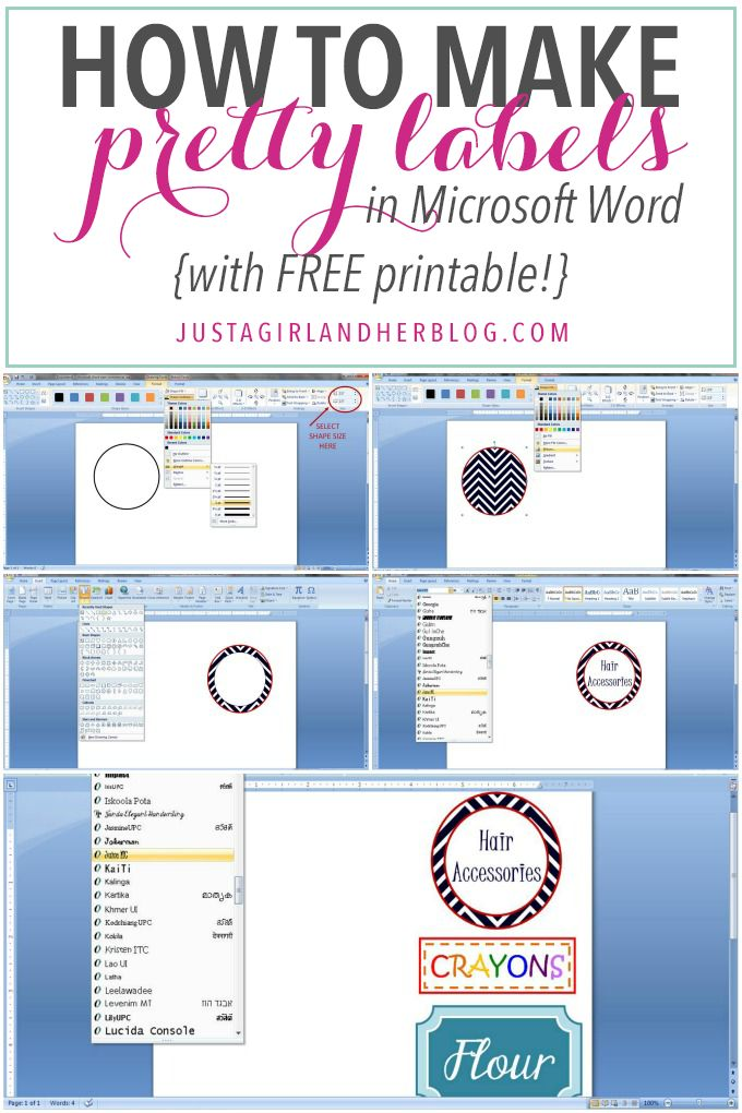 how to make pretty labels in microsoft word organization tips and