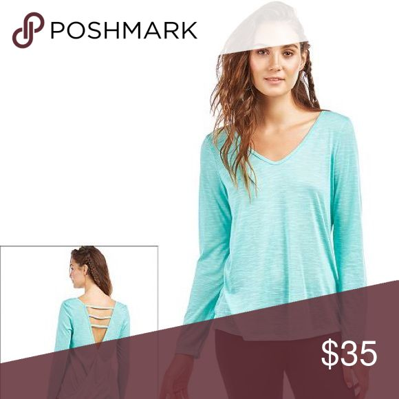 NWT Balance Collection Pool Blue Strappy L/S Top PICTURES COMING SOON. Accepting offers.New with tag. True to size. Excellent for working out or for casual wear with jeans or even as a swim cover top. Retail $48 Balance Collection Tops Tees - Long Sleeve