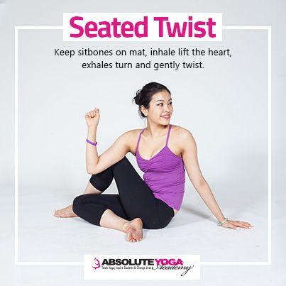Seated Twist Pose Seated Poses Pinterest Yoga Poses