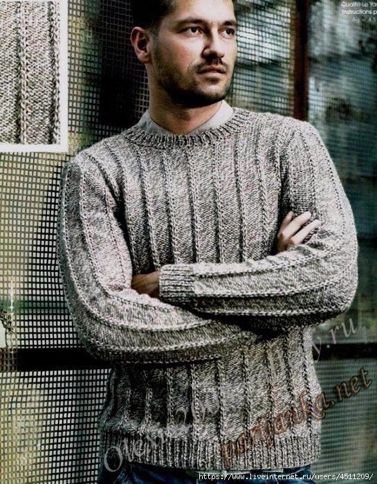 Вязание для мужчин, | Мужские свитеры, Мужской свитер и ...