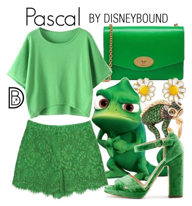 """Pascal"" by leslieakay ❤ liked on Polyvore featuring Mulberry, AZ Collection, Disney, Dolce&Gabbana, Rupert Sanderson, disney, disneybound and disneycharacter"