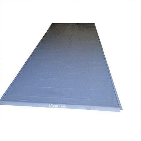7.5'x16' Standard 20-mil Clean Park Garage Mat, Gray
