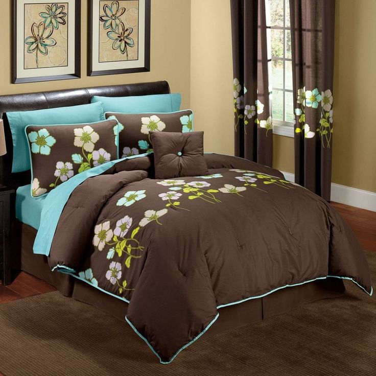 Bedroom Decorating Ideas Teal And Brown 41 best color|brown & teal images on pinterest | brown teal, home