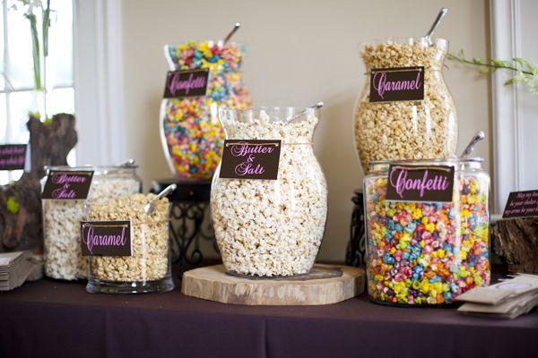 I love the popcorn bar idea!!