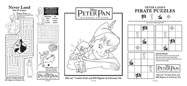 Free Peter Pan Printables, Activities, and Recipes