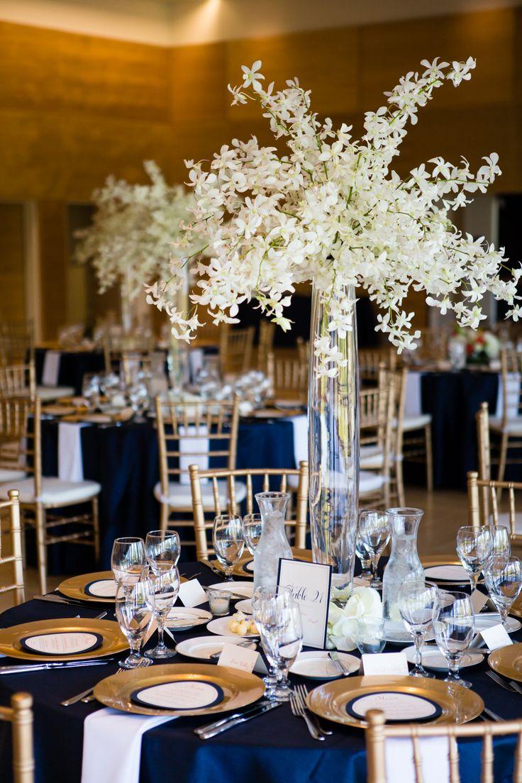 wedding white green orchids hydrangea garden roses lily white green orange dahlia centerpiece reception