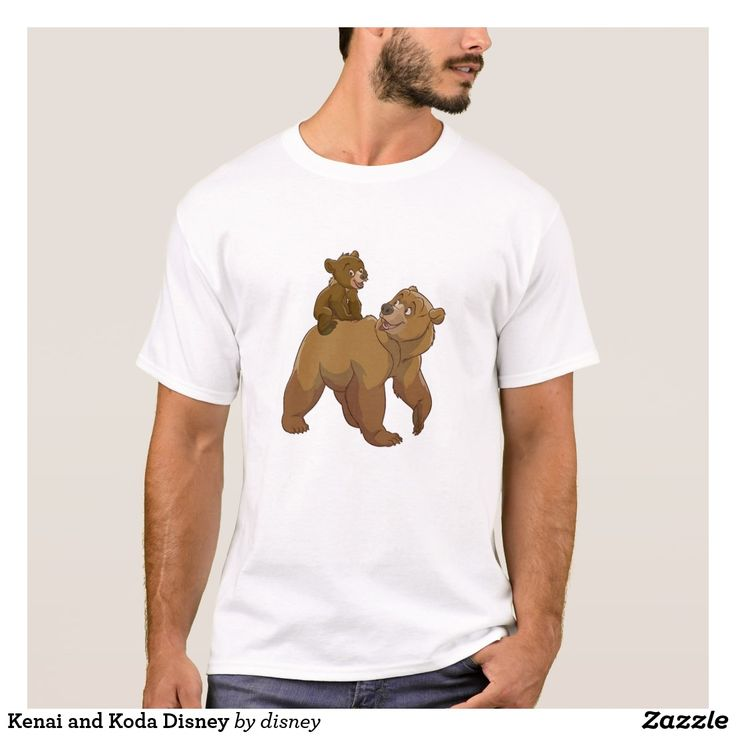 Kenai and Koda Disney. Regalos Padres, fathers gifts . T-Shirt. Producto disponible en tienda Zazzle. Vestuario, moda. Product available in Zazzle store. Fashion wardrobe. Regalos, Gifts. Trendy tshirt. #camiseta #tshir #DiaDelPadre #FathersDay