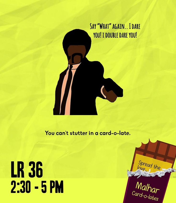"""Don't hesitate now. Just say it! With a card-o-late.   For the movie illiterate, you must see """"Pulp Fiction"""" to get the reference in this post.   Buy a card-o-late now!  Spread the love.  #RevelInTheNew #Malhar2014"""