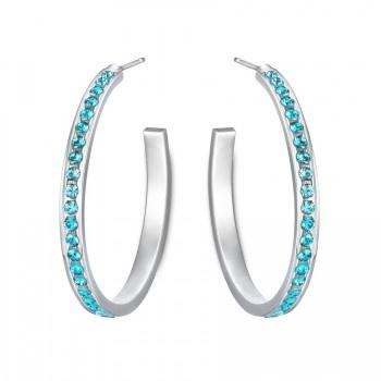Colour Reel Hoop Earrings in Blue www.lolaandgrace.com