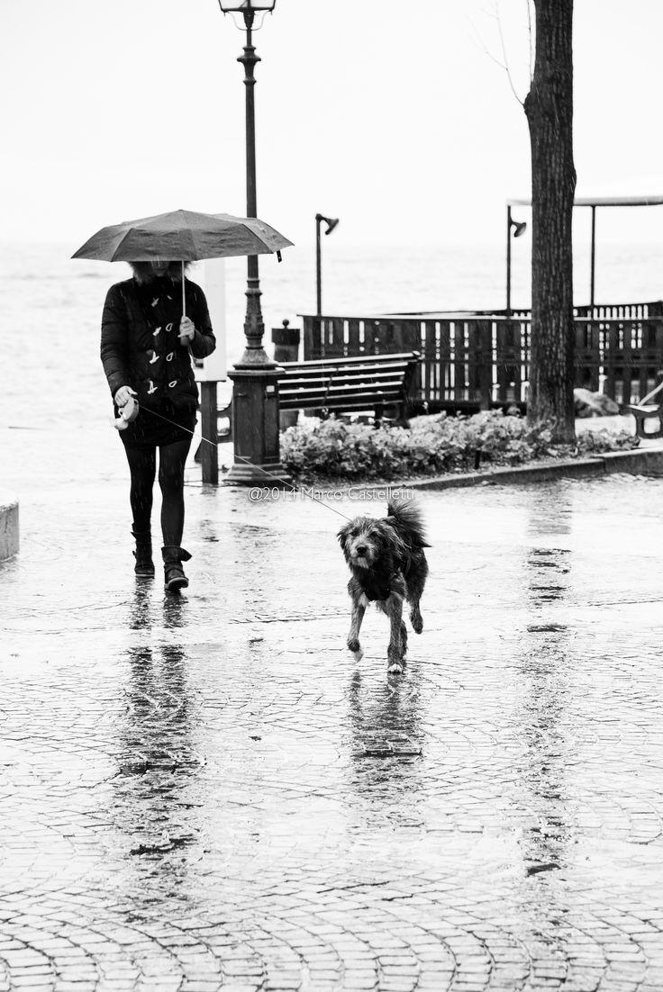 A passeggio sul lago di Garda.