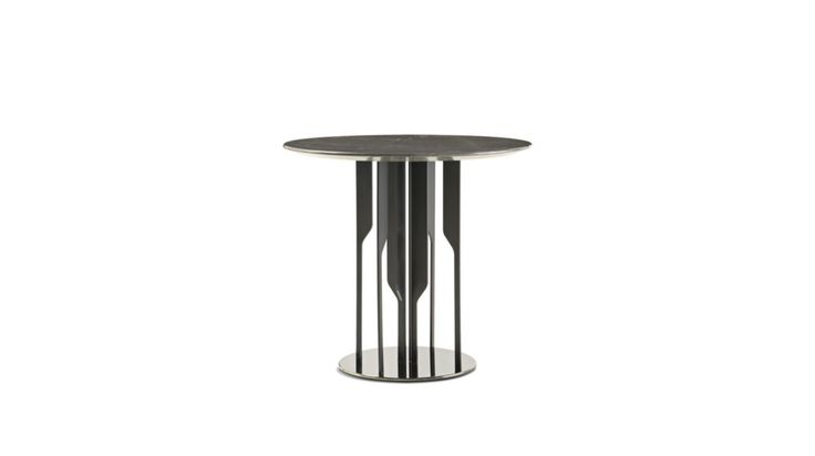 Cocktail table with bevelled marble top on <b>matte</b> lacquer legs, col ...